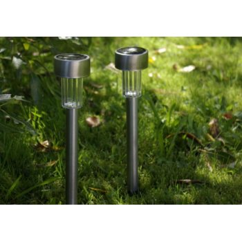 Solární LED zahradní osvětlení Garth z nerezové oceli, 4 ks D02171