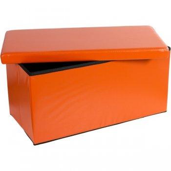 Skládací lavice s úložným prostorem - oranžová M30651