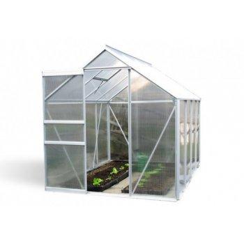 Zahradní skleník Garth s posuvnými dveřmi 250 x 190 x 195 cm D00253