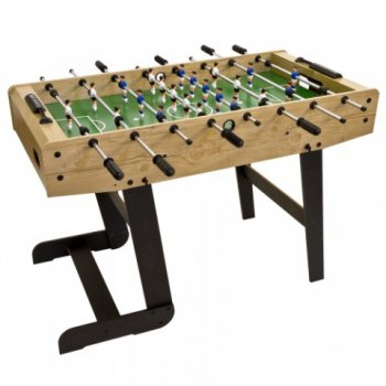 Stolní fotbal fotbálek BELFAST 121 x 101 x 79 cm - světlé dřevo M02634