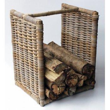 Ratanový stojan koš na dřevo HI08541