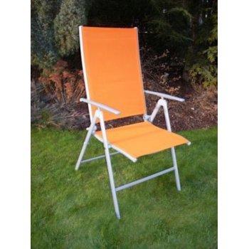 Zahradní polohovatelné křeslo ANF-26C oranžové R03957