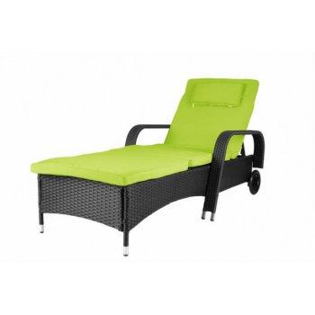 Luxusní zahradní lehátko - zelené D29785