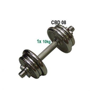 Nakládací činka jednoruční, chromovaná - 10kg AC04556