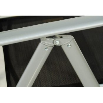 Sada 4 hliníkových skládacích židlí Garth - zelená