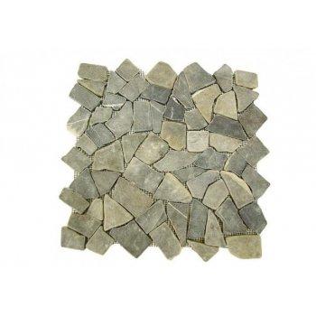 Mramorová mozaika Garth - šedá obklady 1 ks D09588