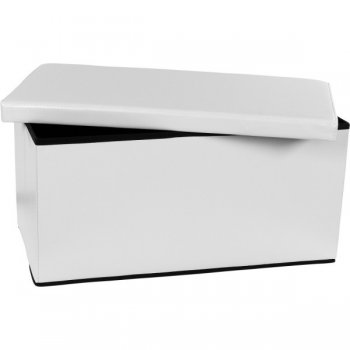 Skládací lavice s úložným prostorem - bílá M06130