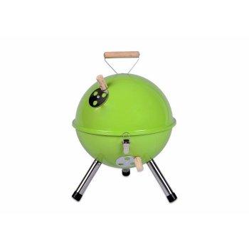 Zahradní mini gril kulatý zelený D00698