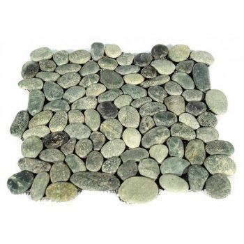 Mozaika Garth říční oblázky - šedá obklady - 1x síťka D27445