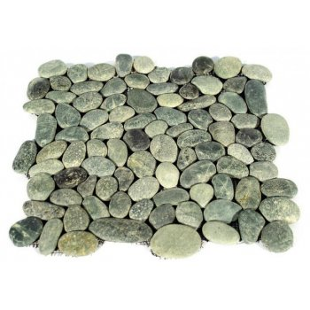 Mozaika Garth říční oblázky - šedá obklady - 1x síťka