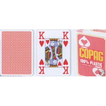 Poker karty Copag Jumbo 4 rohy Red TH02073
