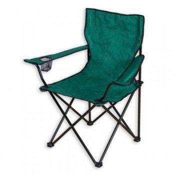 Skládací kempingová židle zelená M01512