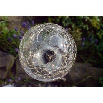 Zahradní sada solárních LED lamp - 3 skleněné koule s barevnou změnou