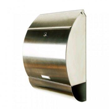 Poštovní schránka leštěná nerez 33 x 48 x 17 cm M01230