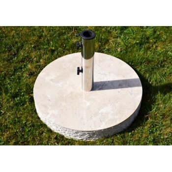 Stojan na slunečník z mramoru a ušlechtilé oceli, kulatý, 40 kg D02149