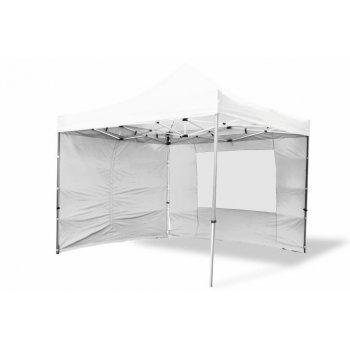 Zahradní párty stan nůžkový PROFI 3x3 m bílý + 4 boční stěny D06378
