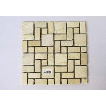 Mramorová mozaika Garth- krémová obklady 1 m2 D01130
