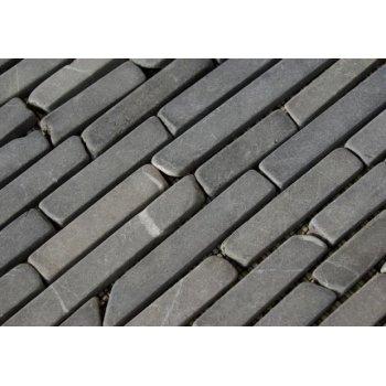 Mramorová mozaika Garth - šedá obklady - 1x síťka D27458