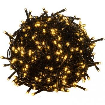 Vánoční LED osvětlení 60 m - teple bílá 600 LED - zelený kabel M39462