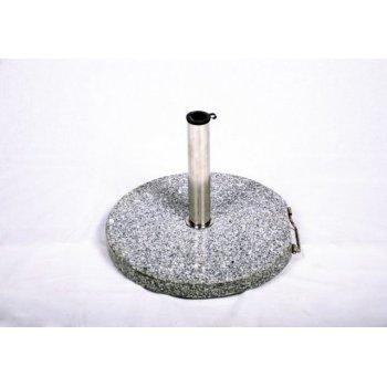Stojan na slunečník (kruhový) - žula / nerezová ocel, 25kg D01506