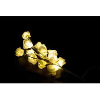 Světelná dekorace - Dekorativní růže - 16 LED, 45 cm D29217