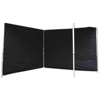 Sada 2 bočních stěn pro PROFI zahradní stan 3 x 3 m - černá D01487
