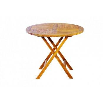 Zahradní kulatý stůl z akátového dřeva Garth, 90 x 90 x 75 cm D00367