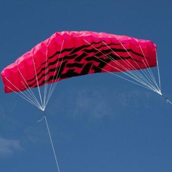 Létající drak - kite 200 x 70 cm růžový M09548