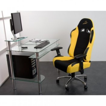 Kancelářská židle žluto-černá M01425