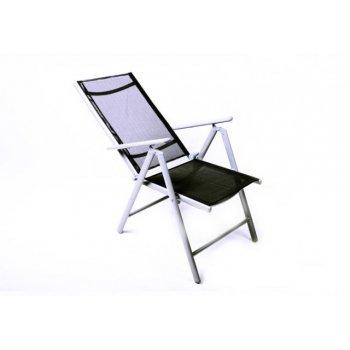 Sada 4 hliníkových skládacích židlí Garth - černá