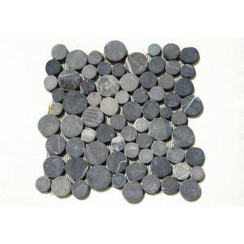 Mozaika Garth z andezitu - šedá obklady - 1x síťka D27509