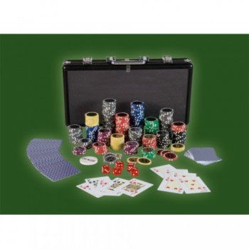 Poker set 300 ks žetonů BLACK EDITION 1 - 1000 M02643