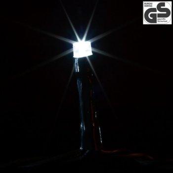 Vánoční LED osvětlení 10 m - studená bílá 100 LED - zelený kabel