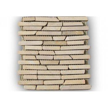 Mramorová mozaika Garth - krémová obklady 1 m2 D00797