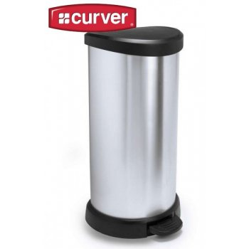 Odpadkový koš DECOBIN 40l stříbrný CURVER R30510
