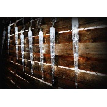 Vánoční osvětlení - rampouchy - studená bílá, 8 světelných funkcí D01135