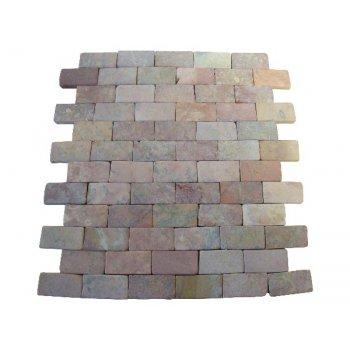 Mramorová mozaika Garth - červená obklady 1 m2 D01636