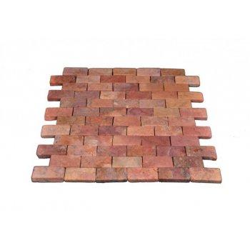 Mramorová mozaika Garth - červená obklady - 1x síťka D27821