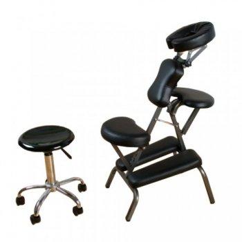 Masážní židle Movit skládací černá 8,5 kg M01326