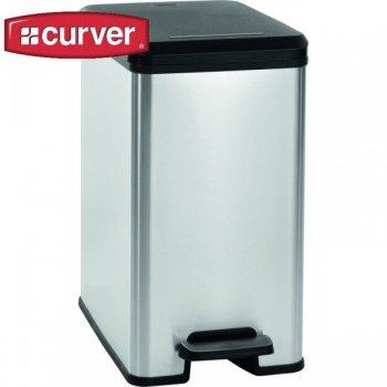 SLIM BIN odpadkový koš 20 l - stříbrný CURVER R31330