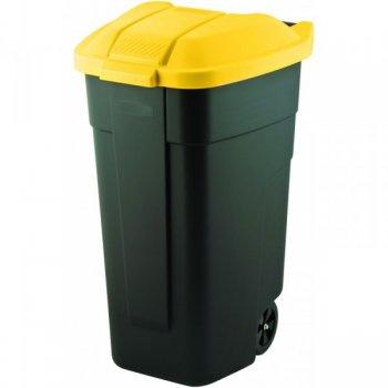 Plastová popelnice COLOR 110 l - černá/žlutá CURVER R31500