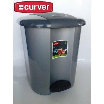 PEDALBIN pedálový odpadkový koš 15l - šedá CURVER R31480