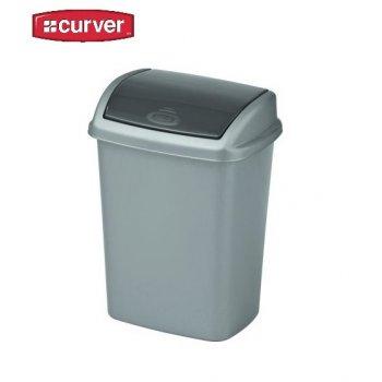 Koš odpadkový SWING 10l- šedý CURVER R31472