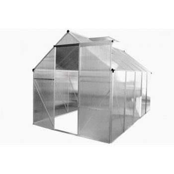 ALU skleník 250 x 190 x 195 cm - s kompletním podstavcem, bez základny D30976