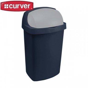 Koš odpadkový ROLL TOP 50l - modrý CURVER R31470
