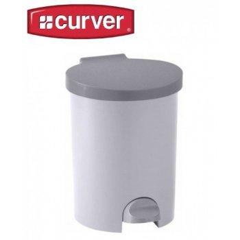 Koš odpadkový KULATÝ pedálový 15l - luna CURVER R31486