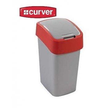 Odpadkový koš FLIPBIN 10l - červený CURVER R31349