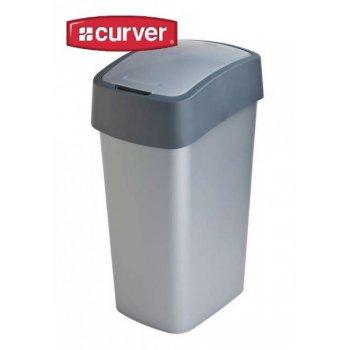 Odpadkový koš FLIPBIN 50l - šedý CURVER R31357