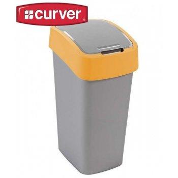 Odpadkový koš FLIPBIN 50l - žlutý CURVER R31361