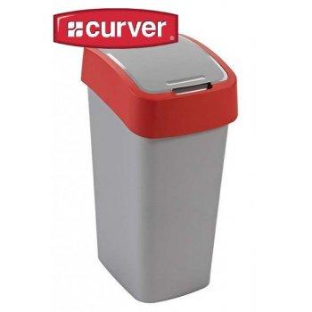 Odpadkový koš FLIPBIN 50l - červený CURVER R31362